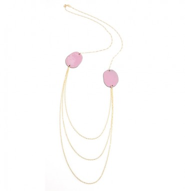 Enamel Rounds Necklace