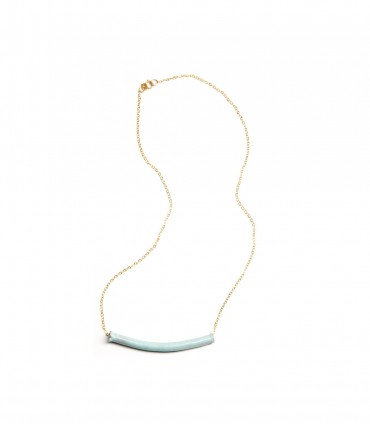 Enamel Tube Necklace