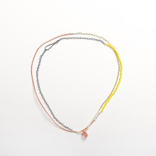 Segments Necklace/Bracelet-Salmon