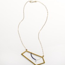 Bronze Trapezoid Necklace with Beads