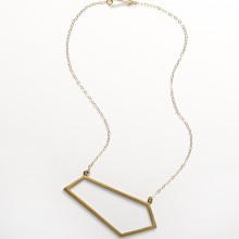 Bronze Trapezoid Necklace